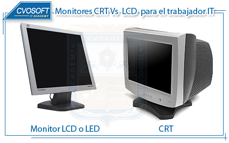 Comparativa entre Monitor CRT y Monitor LCD